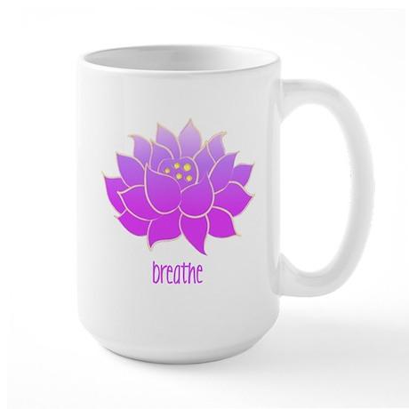 Breathe Lotus Large Mug