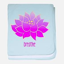 Breathe Lotus baby blanket