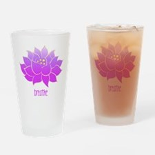 Breathe Lotus Drinking Glass