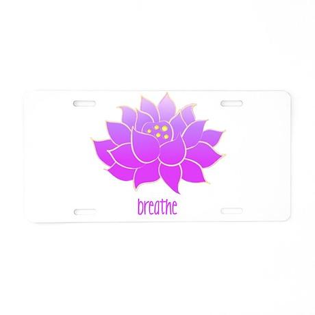 Breathe Lotus Aluminum License Plate