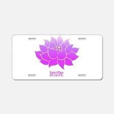 Breathe Lotus Aluminum License Plate