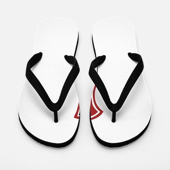 Red Sox White #1 Flip Flops