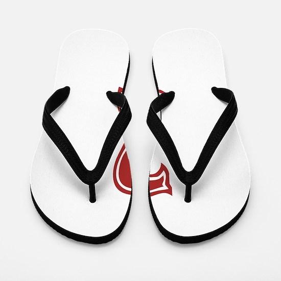 Red Sox White #2 Flip Flops