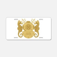 Navy Diving Officer Aluminum License Plate