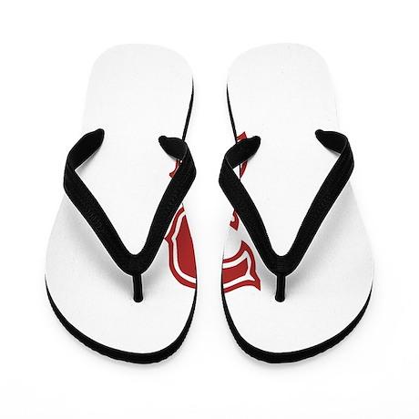Red Sox White #3 Flip Flops