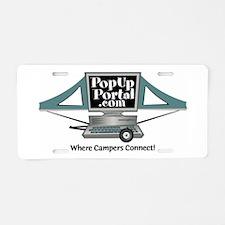 PUP Aluminum License Plate (Large Logo)