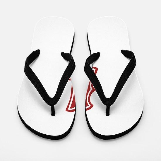 Red Sox White #4 Flip Flops