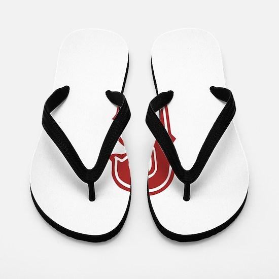 Red Sox White #6 Flip Flops