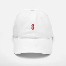 Red Sox White #8 Baseball Baseball Cap
