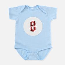 Red Sox White #8 Infant Bodysuit
