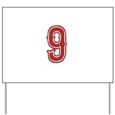 Red Sox White #9 Yard Sign
