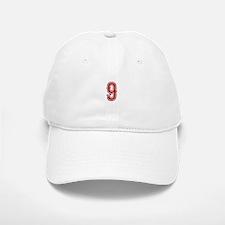 Red Sox White #9 Baseball Baseball Cap
