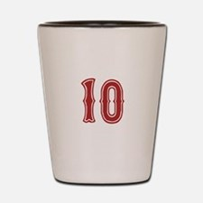 Red Sox White #10 Shot Glass
