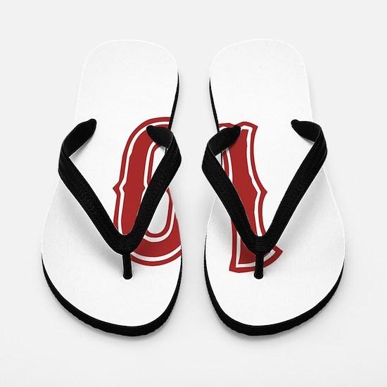 Red Sox White #10 Flip Flops