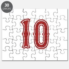 Red Sox White #10 Puzzle