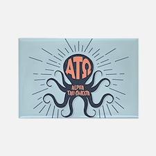 Alpha Tau Omega Octopus Rectangle Magnet