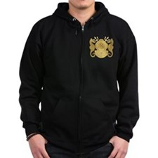 Navy Diving Medical Officer Zip Hoody