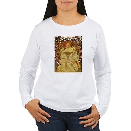 Dreams by Alphonse Mucha Women's Long Sleeve T-Shi