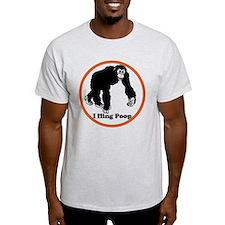 ape flings poo T-Shirt