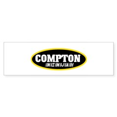 COMPTON NINJAH WEAR Bumper Sticker