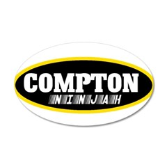 COMPTON NINJAH WEAR 22x14 Oval Wall Peel