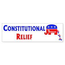 Constitutional Relief Bumper Bumper Sticker