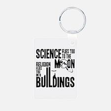 Science Vs. Religion Keychains