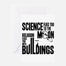 Science Vs. Religion Greeting Card