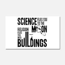 Science Vs. Religion Car Magnet 20 x 12