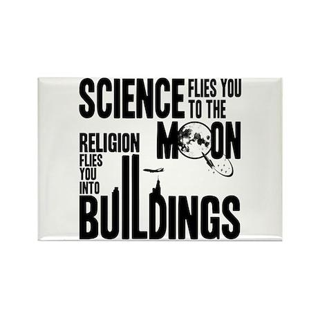 Science Vs. Religion Rectangle Magnet (10 pack)
