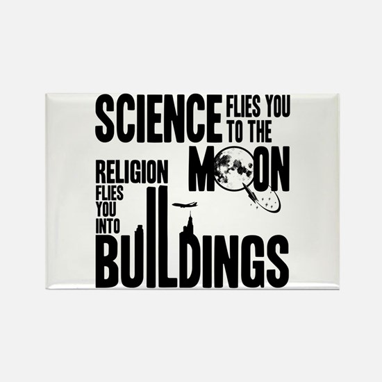 Science Vs. Religion Rectangle Magnet