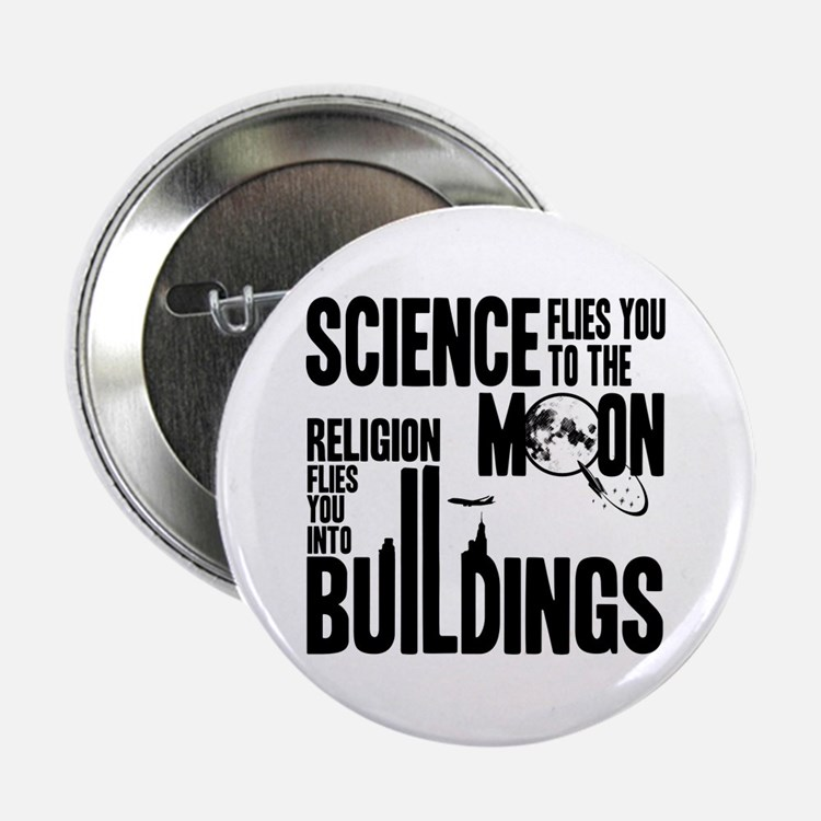 """Science Vs. Religion 2.25"""" Button"""