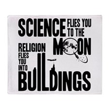 Science Vs. Religion Throw Blanket