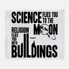 Science Vs. Religion Throw Blanket