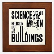 Science Vs. Religion Framed Tile