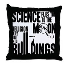 Science Vs. Religion Throw Pillow
