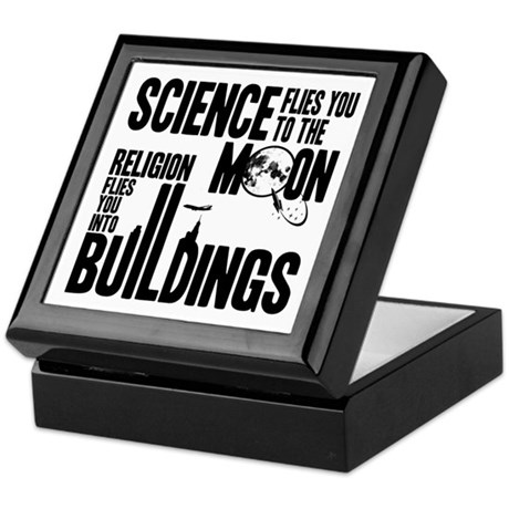 Science Vs. Religion Keepsake Box