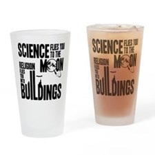 Science Vs. Religion Drinking Glass