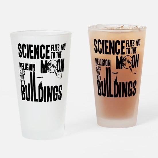 Science Vs. Religion Drinking Glass