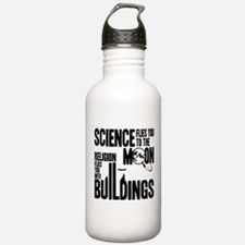 Science Vs. Religion Sports Water Bottle