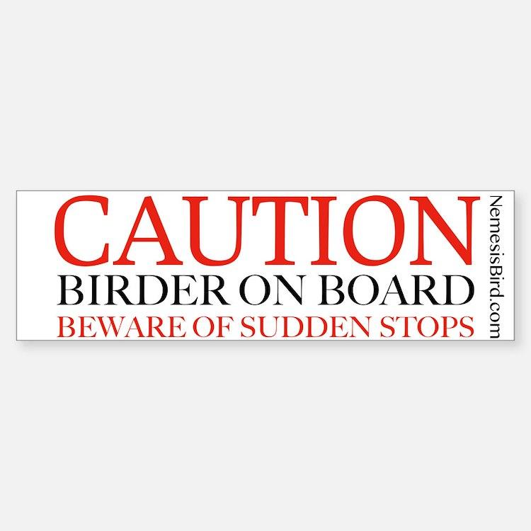 Birder on Board bumper sticker