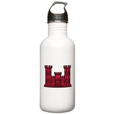 Engineer Branch Insignia - Red Water Bottle