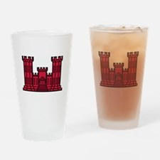 Engineer Branch Insignia - Red Drinking Glass