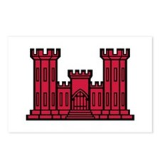 Engineer Branch Insignia - Red Postcards (Package