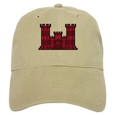 Engineer Branch Insignia - Red Baseball Cap