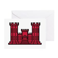 Engineer Branch Insignia - Red Greeting Cards (Pk