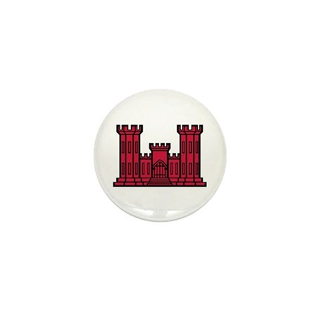 Engineer Branch Insignia - Red Mini Button