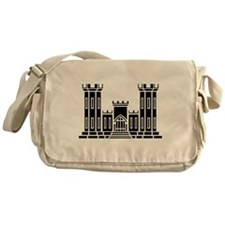 Engineer Branch Insignia - B-W Messenger Bag