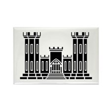 Engineer Branch Insignia - B-W Rectangle Magnet
