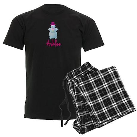Ashlee the snow woman Men's Dark Pajamas